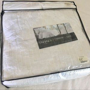 Tamarind full/queen quilt set 100% cotton white